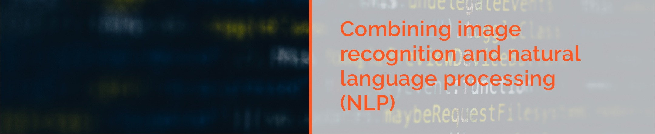 Combining image recognition and natural language processing (NLP)