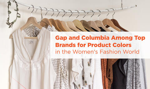 Gap and Columbia Among Top Brands for Product Colors in the Women's Fashion World